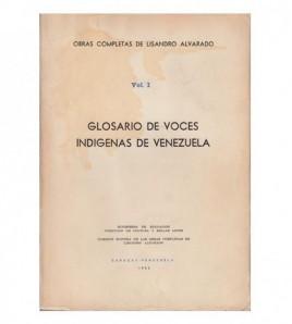 GLOSARIO DE VOCES INDÍGENAS...