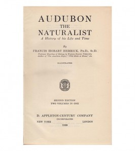 AUDUBON THE NATURALIST. A...