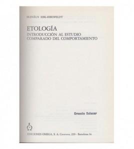 ETOLOGÍA Introducción al...